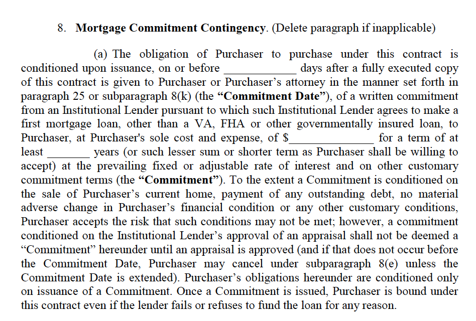 What is a Mortgage Contingency Clause?